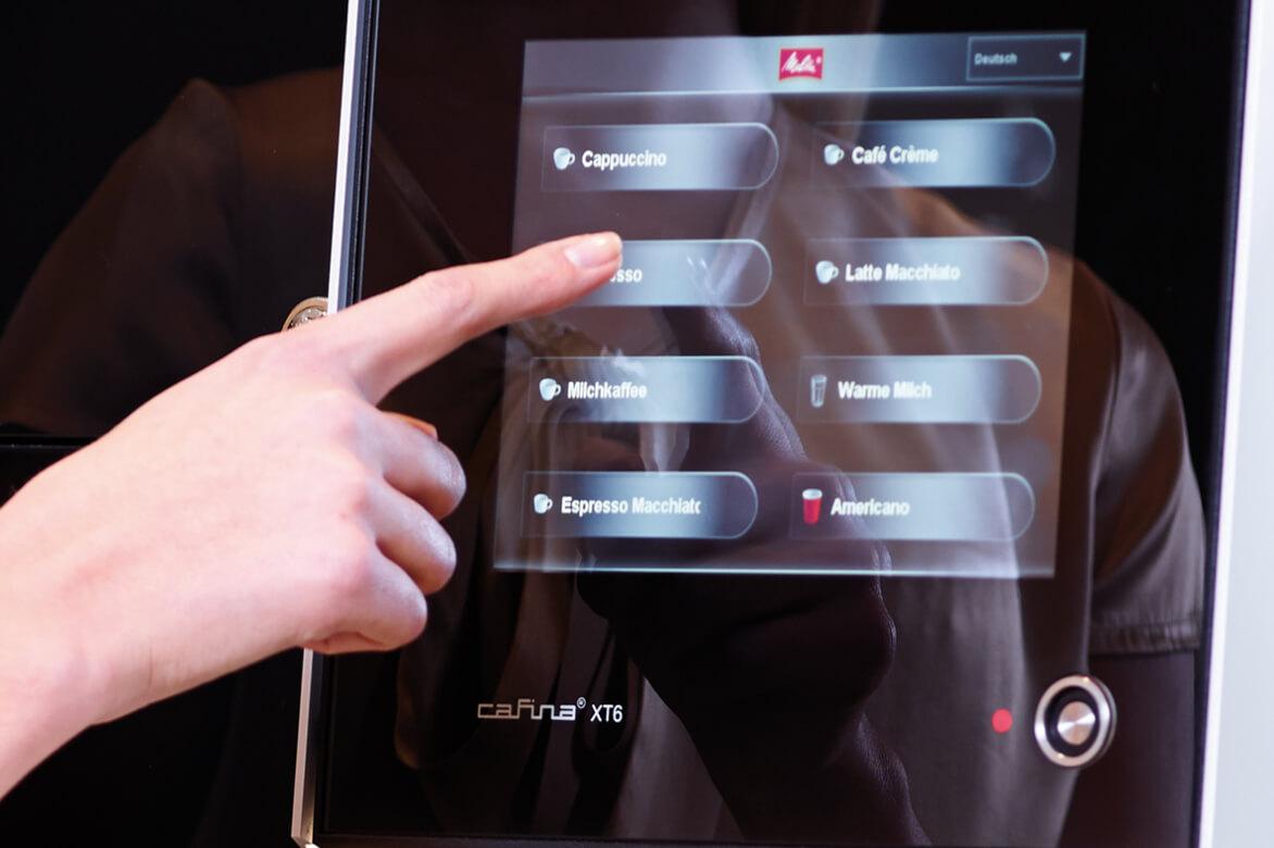 Glass touchscreen